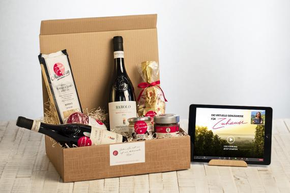 Genusserlebnis Piemont: Genießer-Box mit interaktiver Führung für Gourmets