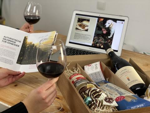 Genießerbox mit Wein und Trüffel